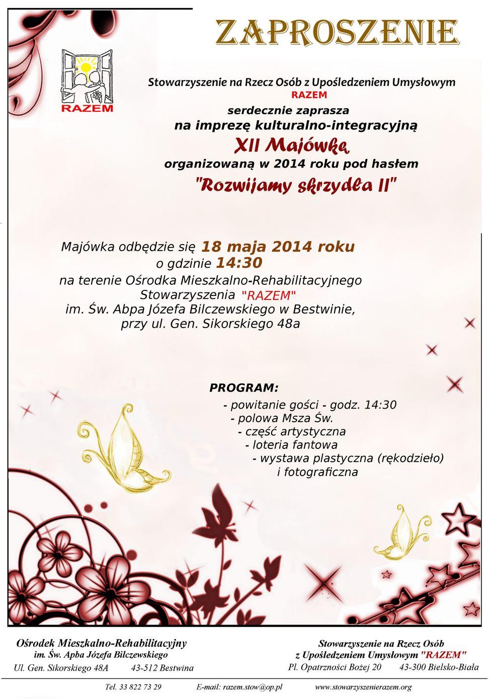 zaproszenie na Majówkę 2014