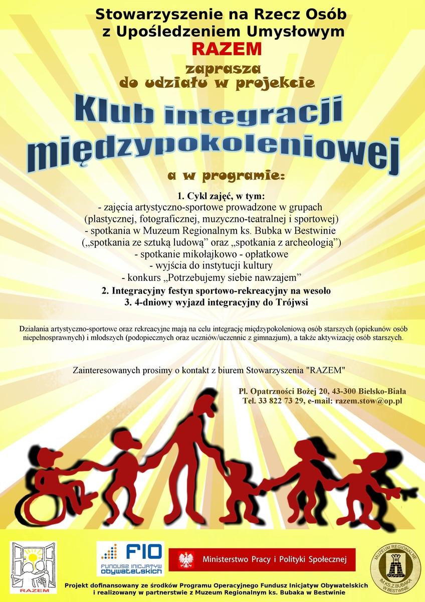 plakat klub integracji